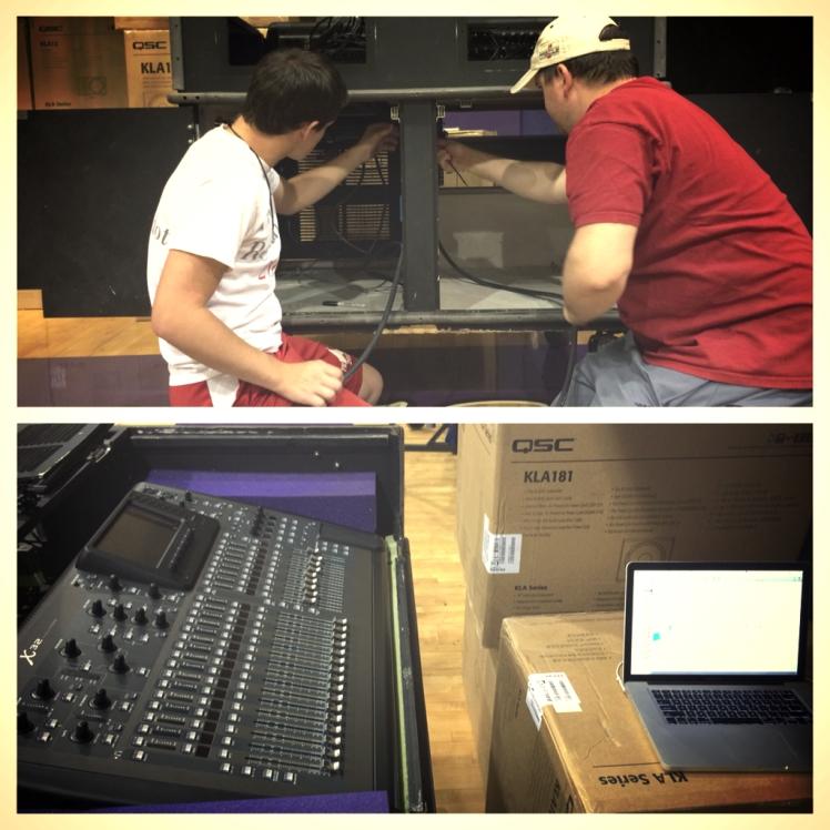 05.23.14 Signal Path Matt and Craig setting up amplification system