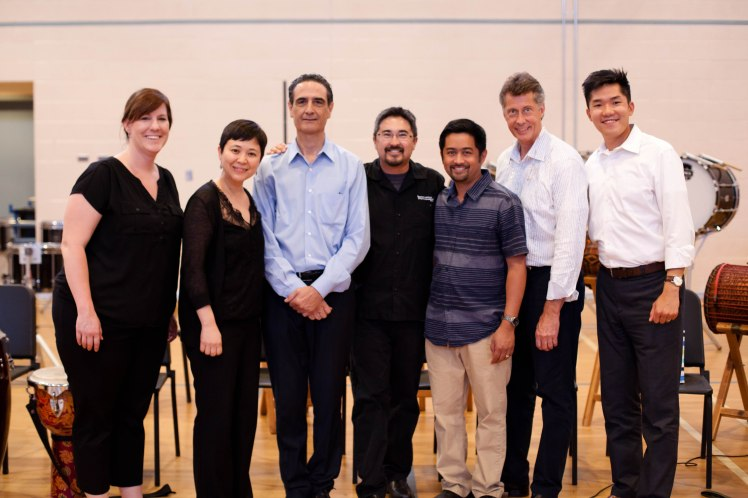 07.02.14 Happy Faculty  (left to right) Susan Willmering, She-e Wu, Steve Biondo, Gabe Cobas, Eric Samson, Christopher Lamb, and Huei-Yuan Pan